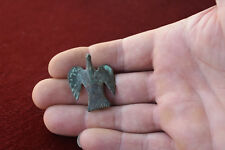 Antique Roman bronze Zoomorphic fibula brooch eagle