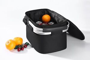 Folding Insulated Picnic Shopping Bag Basket Hamper Cooler with zip