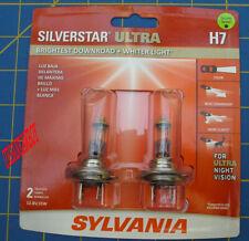 Sylvania SilverStar Ultra Halogen Headlight Bulbs Twin Pack H7SU.BP2