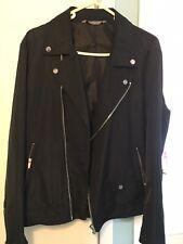 Zara Mens Bikers Style Jacket Polyesster Large Lightweight Jacket