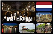 AMSTERDAM - SOUVENIR NOUVEAUTÉ AIMANT DE RÉFRIGÉRATEUR - - CADEAU / NOËL / B/DAY