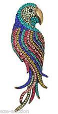 Multicolor Rhinestones Crystal Parrot Bird Pendant / Brooch Pin