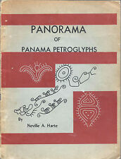 Panorama of Panama Petroglyphs by Neville Harte PREHISTORIC ART pk 1960s ~ Rare