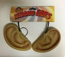 BIG EARS ON HEADBAND FAIRYTALE GNOME Elf BFG ROALD DAHL FANCY DRESS EARS