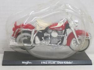 Motorrad Harley-Davidson FLH Duo Glide, rot, Blister, Maisto, Mega Bikes 7, 1:18