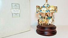 Vtg Tobin Fraley The Playland Carousel 4 Horse Music Box Hallmark Rare#1029/1200