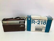 Vintage National Panasonic MW-SW 2-Band R-218R RADIO Rare