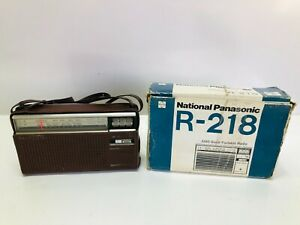 Vintage National Panasonic MW-SW 2-Band R-218R RADIO Rare