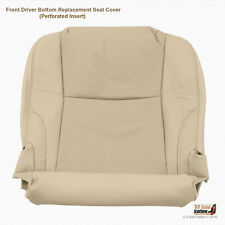 Front Left Bottom Perforated Leather Seat Cover TAN Fits 2007 Lexus IS250 IS350