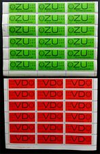 Germany - DDR Dienst - 18 sheets with sheet number (HAN) - CV 150 Euro