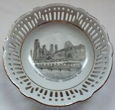 "Attractive Vintage Lattice Ware ""The Rest Gardens"",Arbroath Abbey Trinket Bowl."