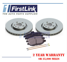 Pair Vented Front 96 to 06 258mm Set PEUGEOT EXPERT 222 1.9D 2x Brake Discs