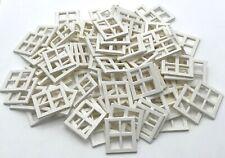 LEGO 100 NEW WINDOWS 2 X 4 X 3 PANE TOWN CITY HOUSE HOME PIECES