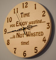 Wooden Wall Clock - Personalised and Engraved - Made to Order