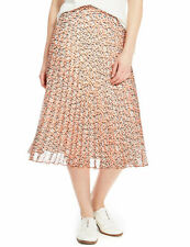 Marks and Spencer Animal Print Pleated  Skirt Size 14 BNWT