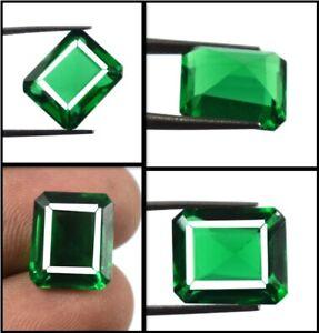 100% Natural Green Garnet African Gemstone 7.25 Ct Emerald Cut Certified X7122