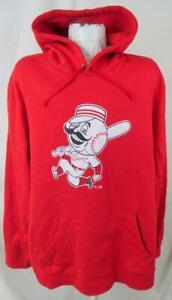"Cincinnati Reds Big Men's 3XL Pullover ""MR REDLEGS"" Hooded Sweatshirt YZ 167"