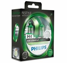 PHILIPS ColorVision Green H4 12V 60/55W P43t Headlight Bulbs 12342CVPGS2 Duo