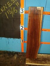 """# 7499 Black Walnut Live Edge Slab lumber craft wood L 38"""" W 9 1/2"""" T 1 13/16"""