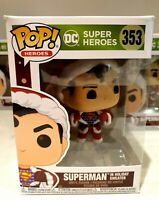 Funko Pop Superman in Sweater Clark Kent DC Comics Holiday IN STOCK Pop 353