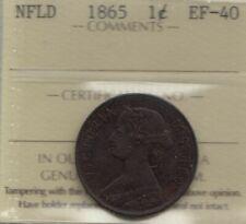1865 Newfoundland One Cent - ICCS EF-40