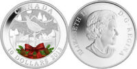 """2013 Royal Canadian Mint """"A Partridge In A Pear Tree"""" $10 Fine Silver Coin"""