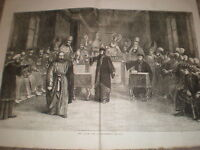 The Passion Play at Ober-Ammergau Bavaria Germany 1871 large old print