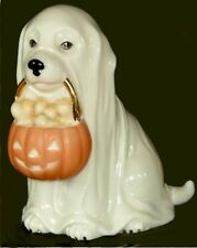 Lenox ~ Ghostly Pup ~ Halloween Puppy Dog with Pumpkin of Bones Figurine ~ NIB