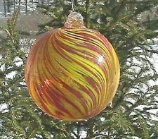 "Hanging Glass Ball 6"" Diameter ""Sunburst"" Friendship Ball (1) #125"