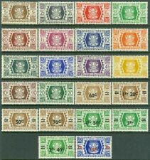 EDW1949SELL : WALLIS & FUTUNA 1944-46 Sc #127-40, 141-48 Cplt sets VFMNH Cat $23