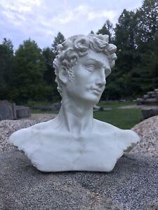 Vintage Michelangelo's David Bust Of David Statue Plaster Art