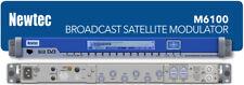 Modulador newtec M6100 DVB-S2X Asi/IP para banda L 10 MHz + analizador de monitoreo de TS