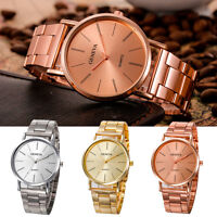Geneva Fashion Women Men Luxury Stainless Steel Analog Quartz Dress Wrist Watch