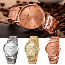 Geneva Fashion Women Men Luxury Stainless Steel Analog Quartz Dress Wrist Watch