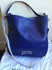 NWT $428 MARC by Marc Jacobs Ligero Leather Hobo Bag Mineral Blue