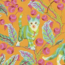 Tabby Road Tula Pink Disco Kitty Free Spirit Quilting Cotton Fabric per Meter