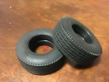 **2 Pack** Solid rubber wide truck/trailer tires great for Tamiya 1:14 projects