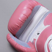 Pink Boxing Gloves for Sparring / Competition, Bonded Leather with Air Maxx Palm
