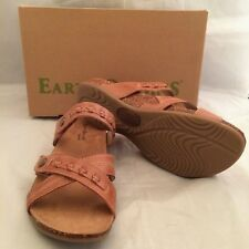 EARTH ORIGINS Tamra Brown Leather Slip On Comfort Sandals Womens Sz 7.5 M