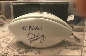 Archie Manning SIGNED NFL WILSON FOOTBALL W/ DISPLAY CASE NO COA PERSONALIZED