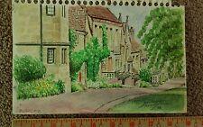 Original '99 Watercolor by Stuart Jones Burford England En Plein Air
