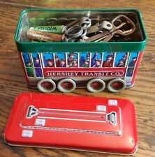BOTTLE OPENER COLLECTION Beer/Wine/Soda 25 Assorted c1945-60 vgc and TROLLEY TIN
