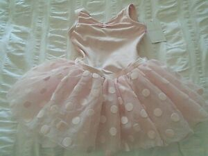 NEW~CAPEZIO: Toddler Pink Polka Dot Tutu Tank Dress/#11591C/Soft, Sweet+Lovely