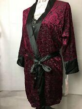 Linea Donatella Jacquard Velvet Chemise Nightgown & Wrap 2pc Set Size: Small