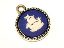 Small Wedgwood Jewelry Cameo in Silver-Plated Charm Pendant
