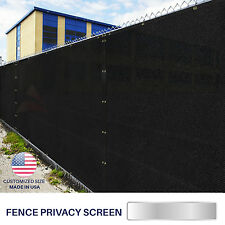 Customize Black 4' 5' 6' 8' (H) Fence Privacy Wind Screen Mesh Fabric Shade