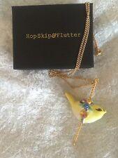 Hop Skip And Flutter Carosel Porcelain Bird Necklace