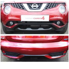 Nissan Juke 2014 Detroit Red Bumper Trims Front + Rear New Genuine KE600BV009RD