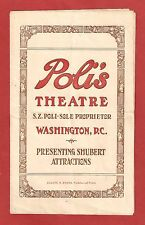 "Edith Day ""IRENE"" Eva Puck / Florence Mills / Lillian Lee 1919 Tryout Program"