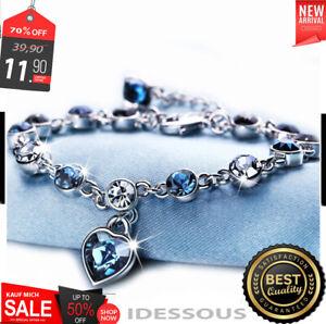 SILBER Armband Armkette Zirkon Geschenk Schmuck Silberkette für Damen Frauen